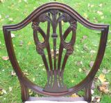 Set of Twelve Mahogany Shield Back Dining Chairs